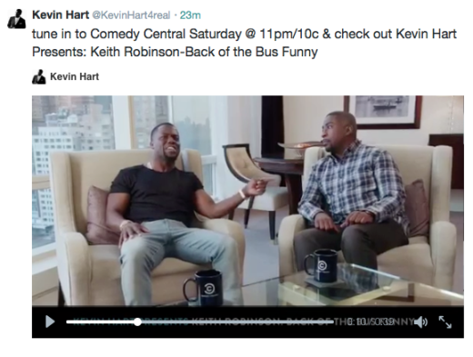 Kevin Hart produced Keith Robinson's new special, which will air this Saturday at 11 pm EST on Comedy Central